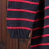 Women Round Neck Long Sleeve Stripe Casual Long Sweater Dress