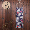 Women Summer Floral Split Casual Two Piece Suit