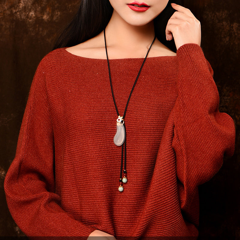 Women Simple Accessories National Wind Long Necklace