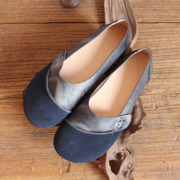 Women Soft Leather Casual Vintage Flats