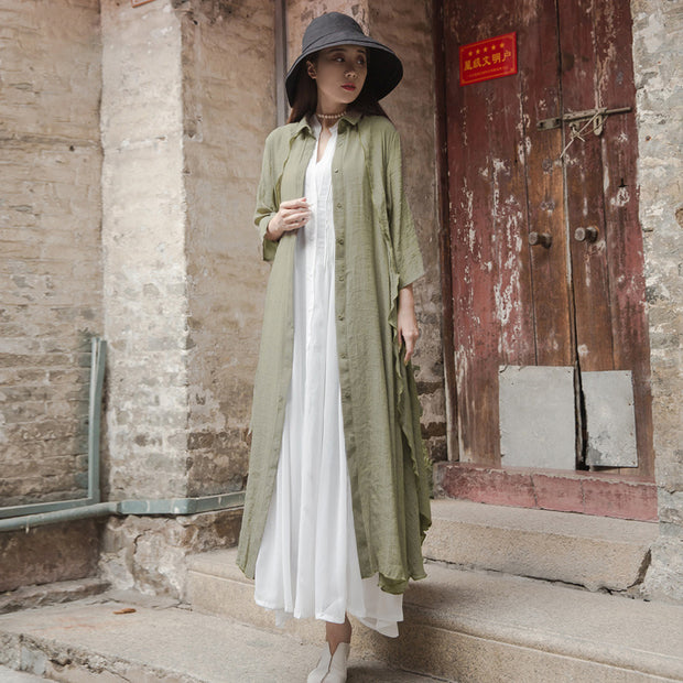 Women Solid Color Double-Layer Shirt Coat