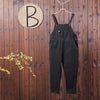 Women Spring Casual Cotton Solid Jumpsuit
