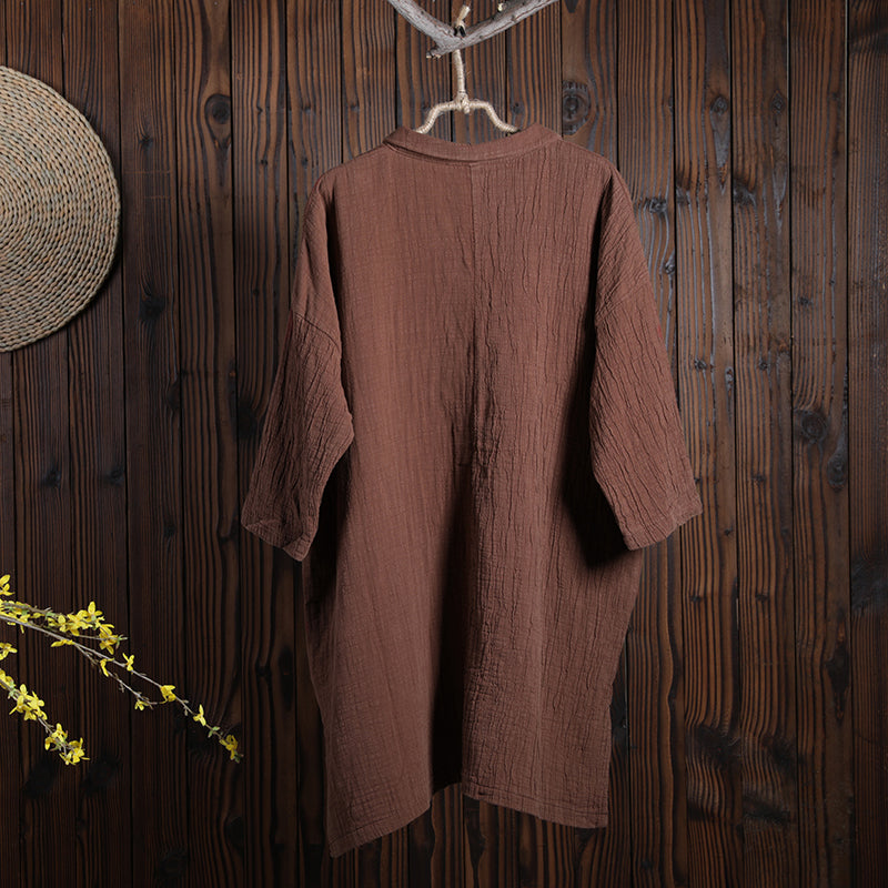 Women Spring Casual Loose Red Shirt