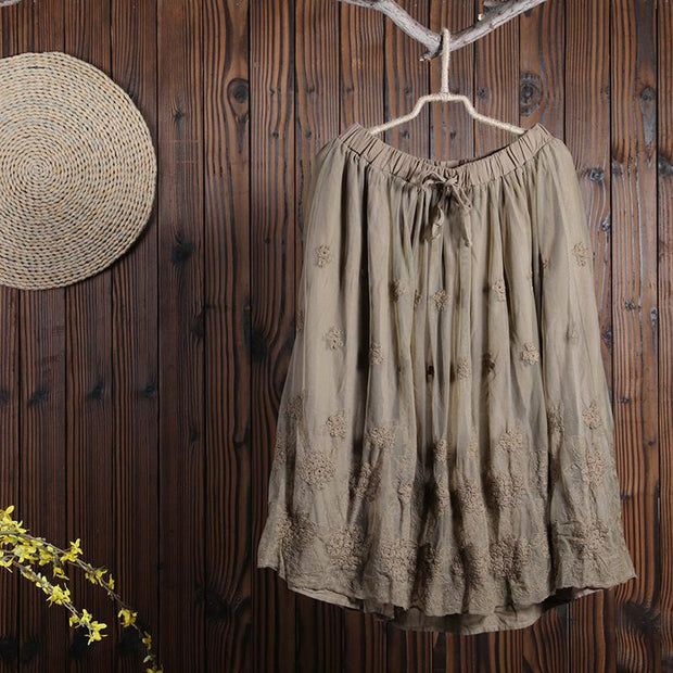 Women Spring Casual Solid Loose Skirt