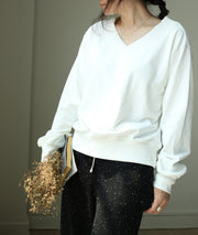 Women Spring Casual Solid Pullover Long Sleeve Sweatshirt