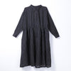 Women Spring Casual Striped Loose Long Sleeve Dress