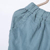 Women Spring Vintage Solid Calf Length Wide Leg Pants
