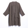 Women Spring Vintage Solid Top Cardigan Long Sleeve Coat