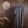 Women Summer Casual Floral Loose Short Sleeve Dress
