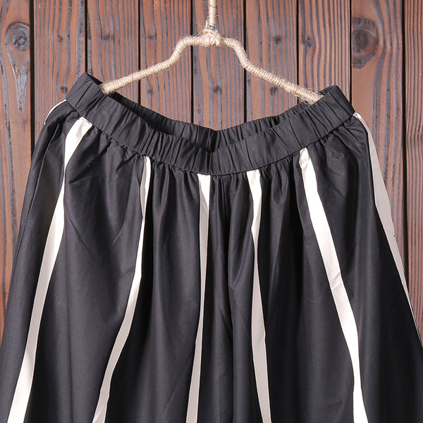 Women Summer Casual Stripe Wide Leg Pants