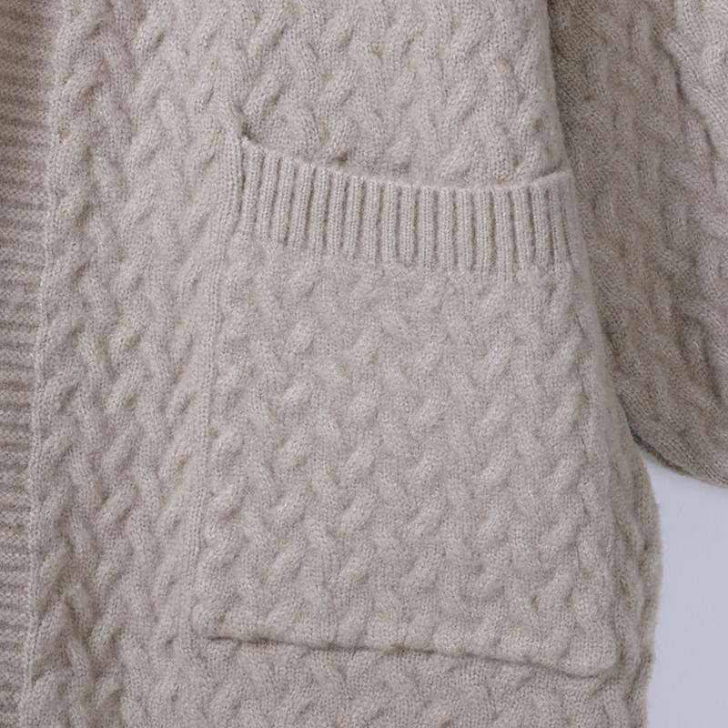 Women Winter Casual Solid Cardigan Long Sleeve Sweater