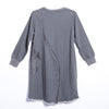 Women Winter Casual Solid Knee-Length Pullover Loose Long Sleeve Dress