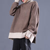 Women Winter Turtleneck Split Loose Leisure Sweater
