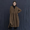 Women's Vintage Long Sleeve Linen Trench Coat