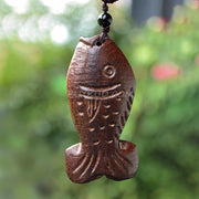 Women vintage wood necklace