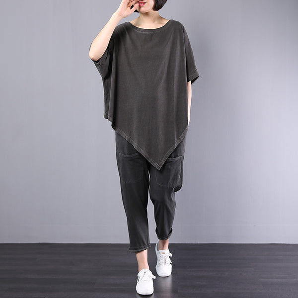 Womens Asymmetrical Top Harem Pants Co-Ord Set