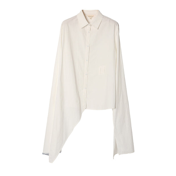 Womens Stylish Asymmetrical Front-Tie Shirt Blouse