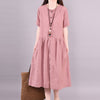 Womens Summer Button Down Skater Casual Loose Dress