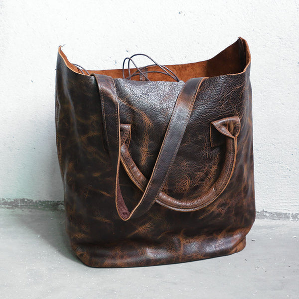 Leather Casual Women Brown Handbag - Buykud