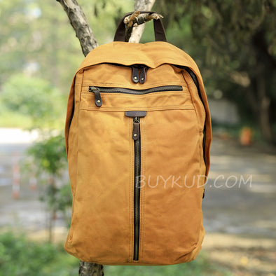 Zipper Casual Canvas Computer Backpack