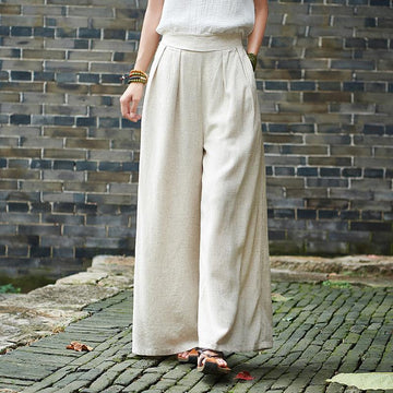 Plus Size - Casual Yoga Style Wide Leg Pants