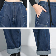 Buykud New Casual Pure Color Loose Harem Jeans