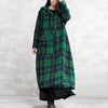 Loose Casual Winter Plaid Hoodies Coat