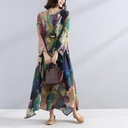 Charming Women Casual Loose Floral Long Sleeve Dress