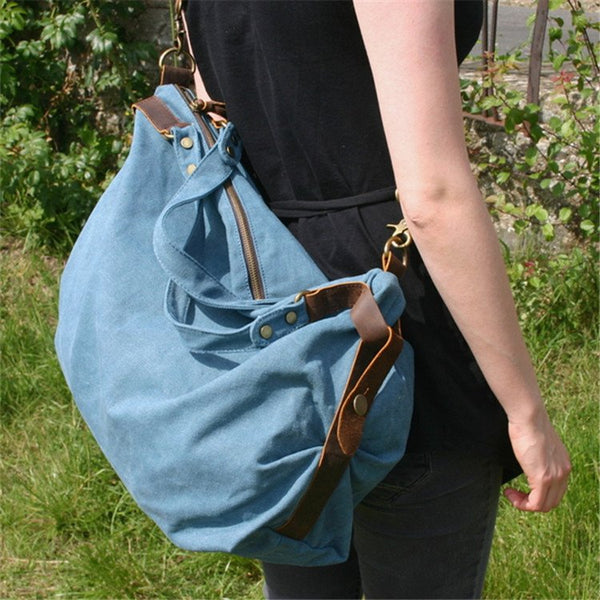 Bag - Canvas Leather Shoulder Bag