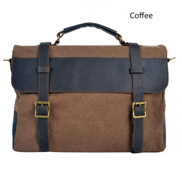New retro style mixed color canvas shoulder bag or handbag - Buykud