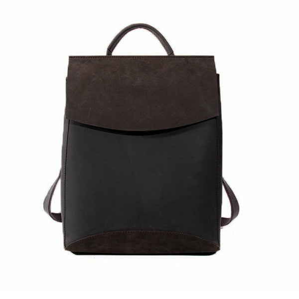 Bag - Retro Style Leather Backpack