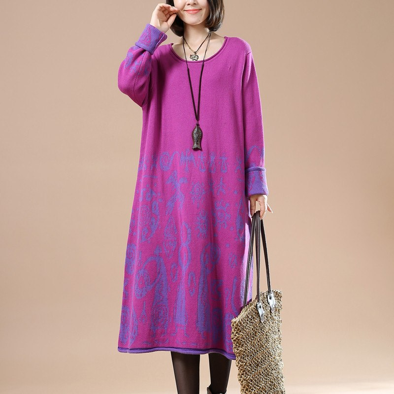 Casual Cotton Knitting Sweater Dress