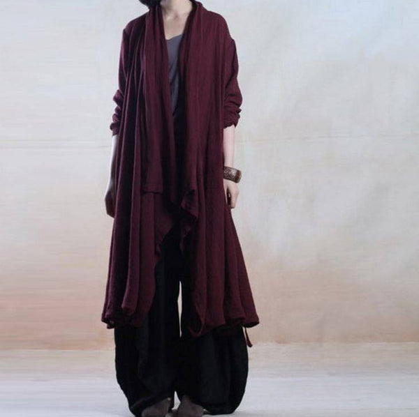 Casual Loose Fitting Cotton Linen Coat