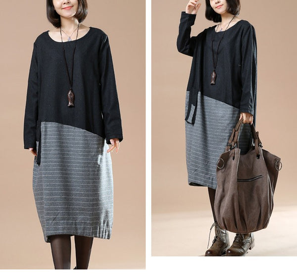 Casual Woolen Loose Autumn Dress