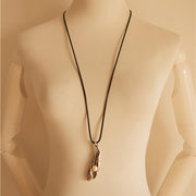 Ethnic Style Vintage Sweater Chain Fish Necklace