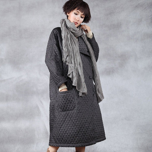 Women winter cardigan polyester overcoat - Buykud