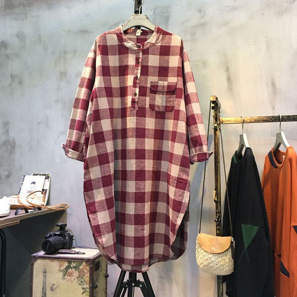 Copy Of Casual Loose Fitting Cotton Linen Dress