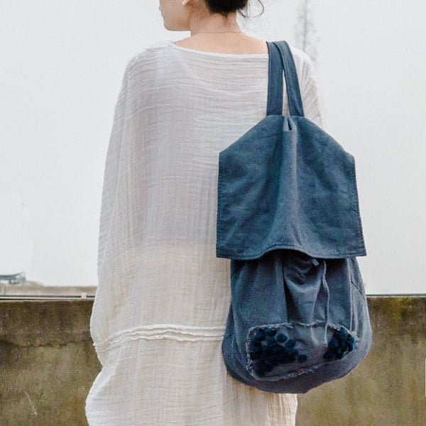 Cotton Linen Backpack