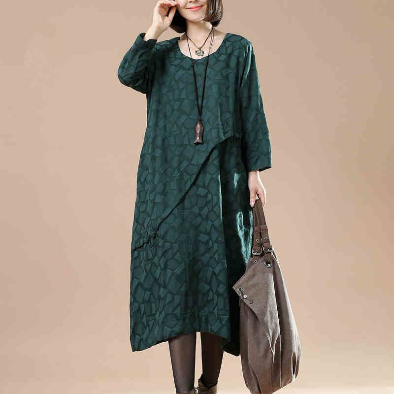 Cotton Linen Loose Autumn Dress