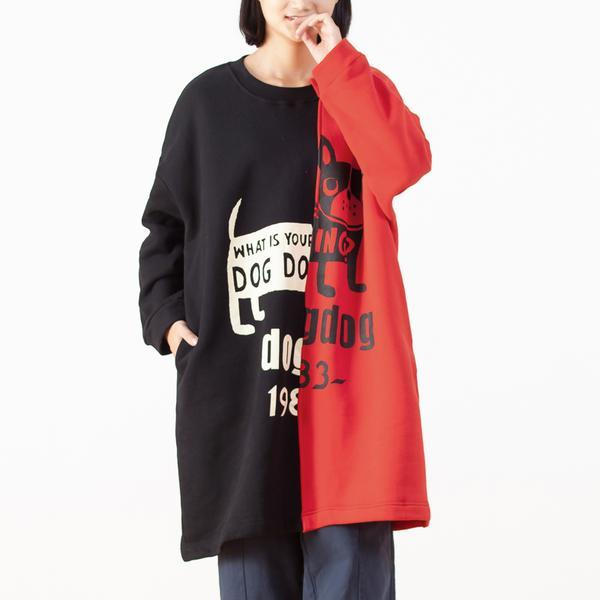 Autumn Print Cartoon Long Top For Women