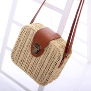 Beach Travel Straw Weave Shoulder Bag