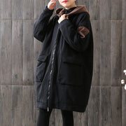 Buykud Color Matching Casual Thick Warm Coat