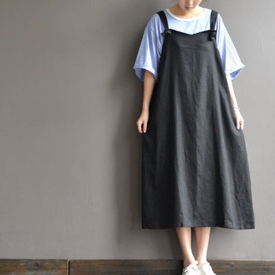 Cotton material strap dress - Buykud