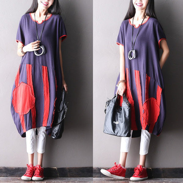 Dress - Women Casual Cotton Linen Loose Dress
