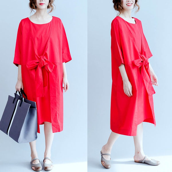 Women cotton cardigan dress - Buykud