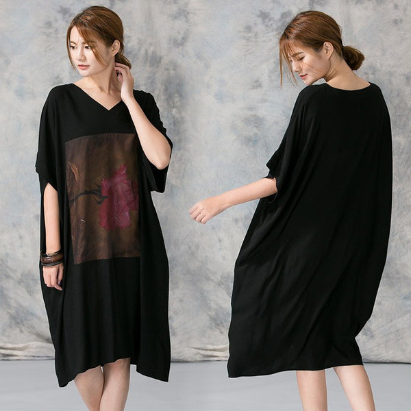 Dress - Women Plus Size Loose T-shirt