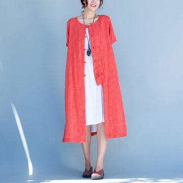 Women short sleeve cardigan dress - Buykud