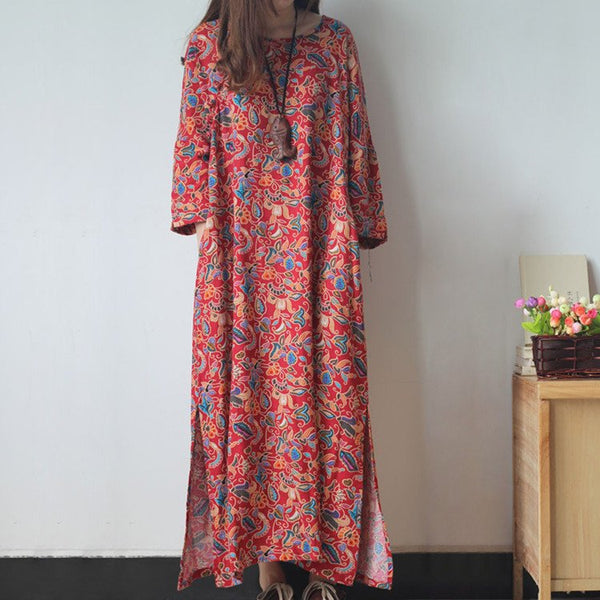 Dress - Women Summer Cotton Linen Dress