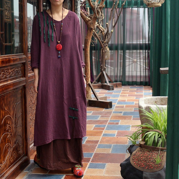 Dress - Women Summer Cotton Loose Dress