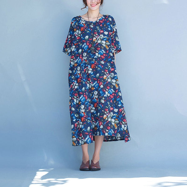 Dress - Women  Summer Linen Loose Dress